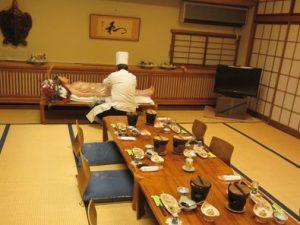亀山温泉の女体盛り