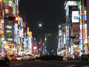眠らない町新宿歌舞伎町の夜景